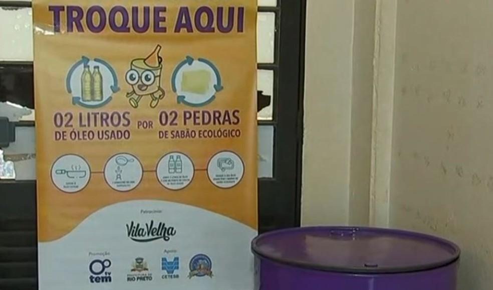 Projeto troca óleo de cozinha usado por barras de sabão em Rio Preto